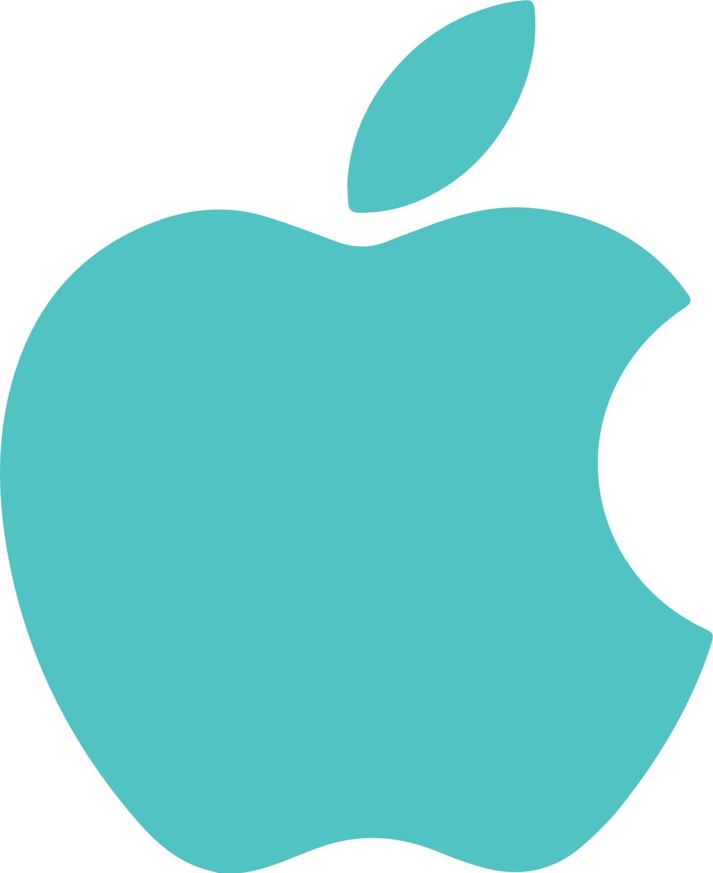 Apple Icon (Teal)